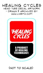 Healing cycles head tube decal