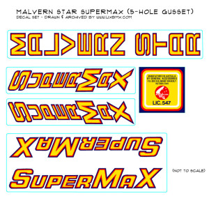 Supermax 5-hole decals