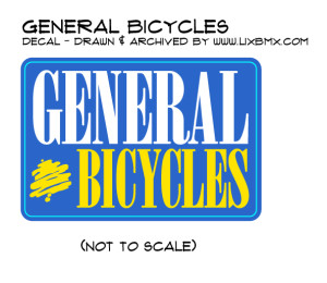 General Bicycles BMX sticker